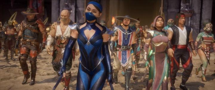 Vários lutadores do passado reunidos, prontos para enfrentar uma grande ameaça.