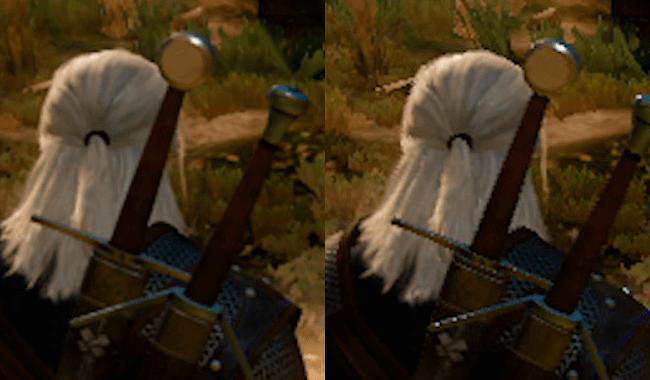 É muito destoante a diferença do efeito aplicado aos modelos, como no Geralt em The Witcher 3