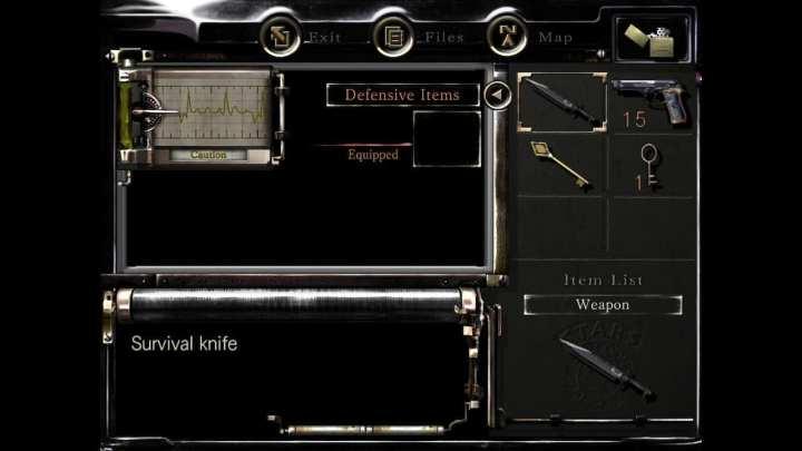 O estoque de itens é limitado, e o jogador deve aprender a gerenciá-lo.