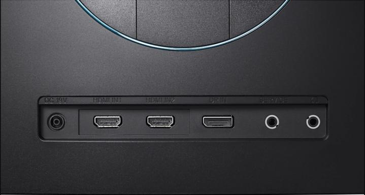 conexões do monitor curvo samsung C24FG73