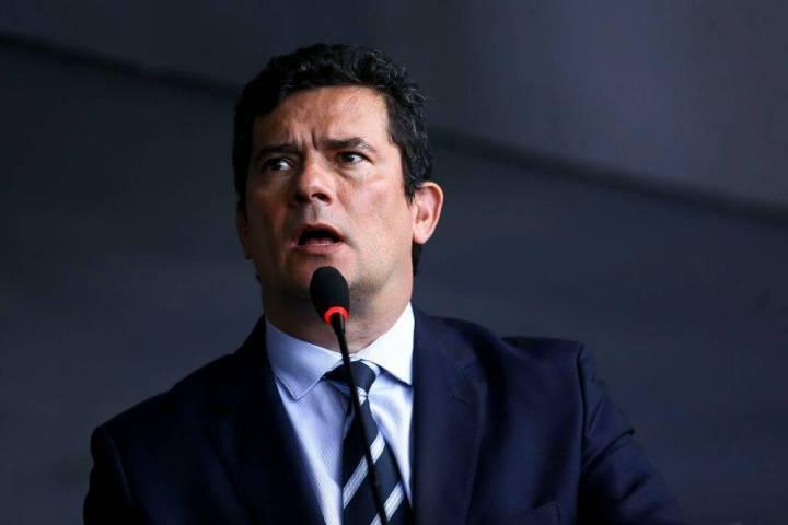Ministro Sergio Moro em um de seus Discursos após ter o celular clonado.