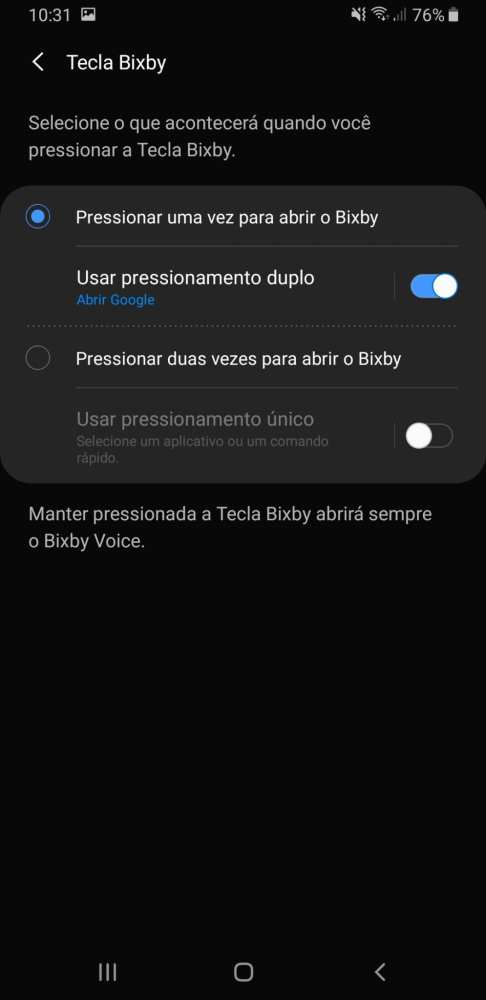Tecla bixby do Galaxy A9 2018