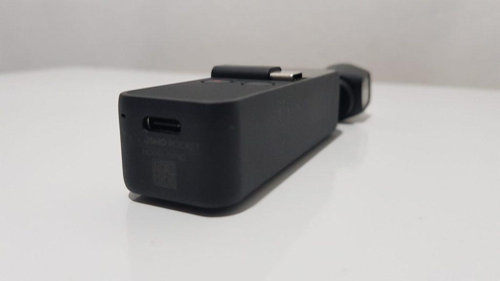 Entrada USB-C do Osmo Pocket