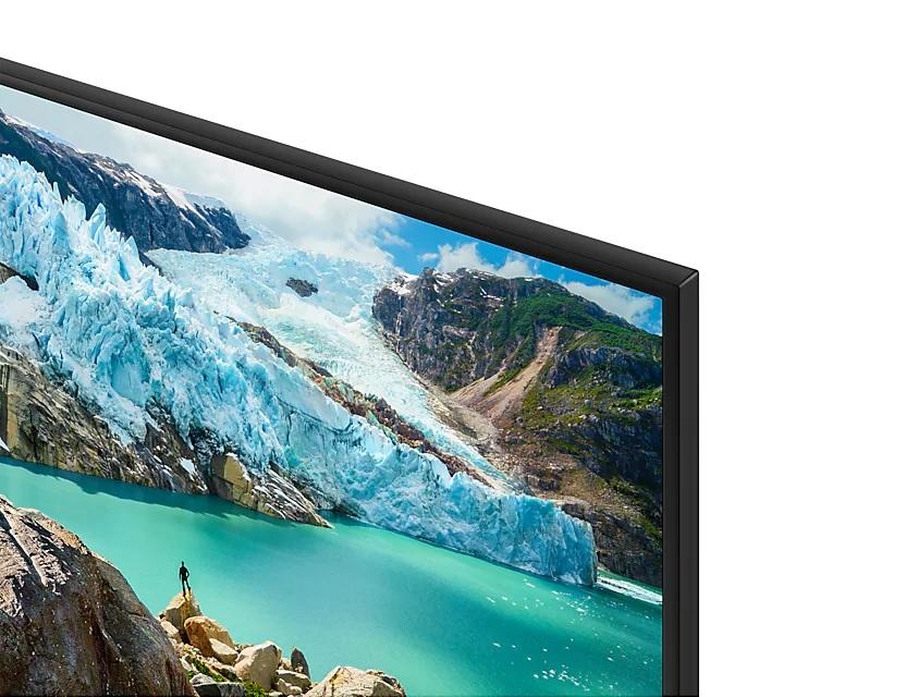 TV UHD 4k RU7100 da Samsung conta com bordas e espessura finas