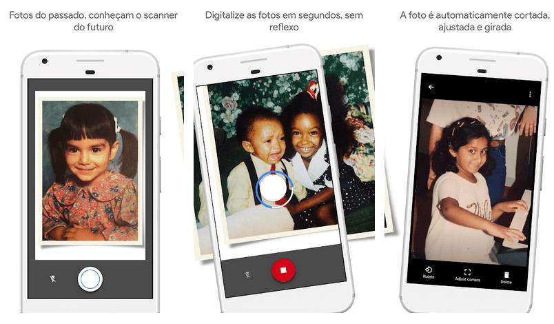 Photoscan aplicativos do Google