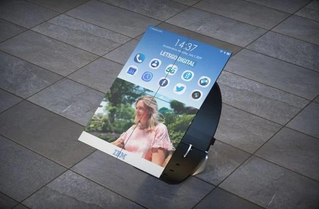 O smartwatch dobrável é capaz de desdobra-se em até, no máximo, oito paineis, cumprindo muito bem as funções de um tablet ou de um smartphone