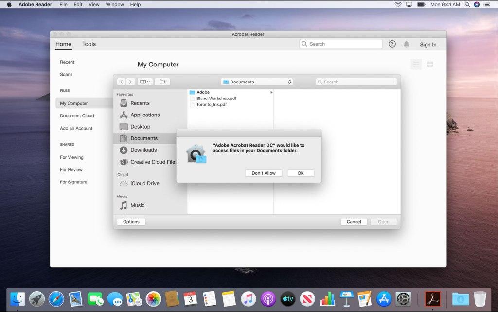 macOS dá ao usuário mais controle e segurança sobre seus dados
