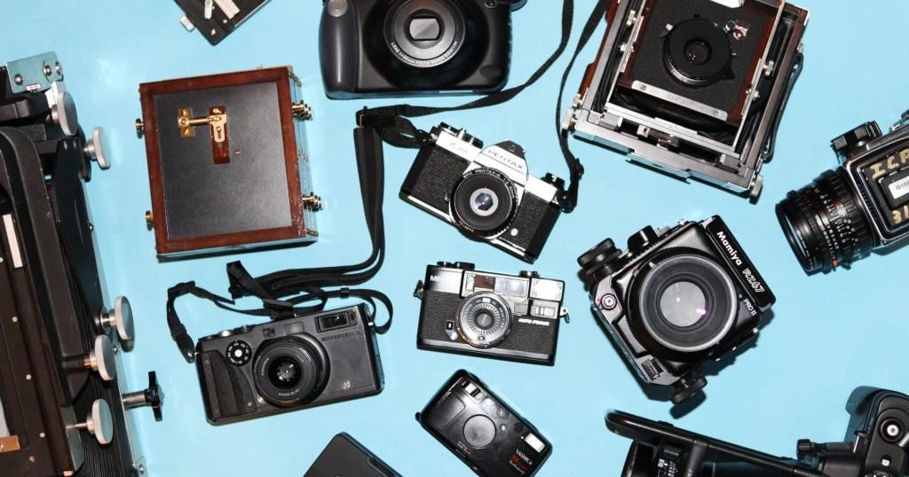 Câmera de filme tecnologias antigas