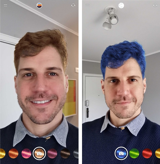 Com o Fabby Look é possível mudar a cor do cabelo com recurso AR