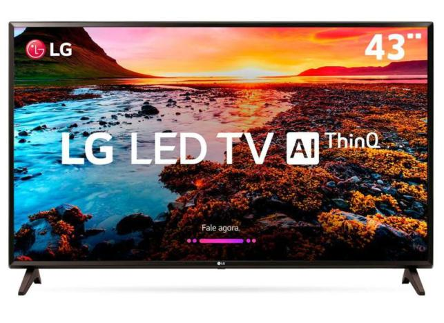 Smart TVs mais buscadas de julho - Smart TV LED 43 LG ThinQ AI Full HD HDR 43LK5750PSA