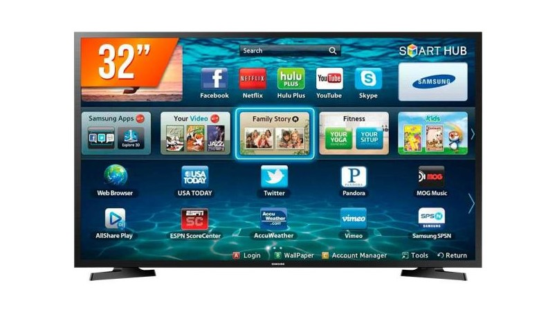 Smart TVs mais buscadas de julho - Smart TV LED 32 Samsung Business LH32BENELGAZD 2 HDMI LAN