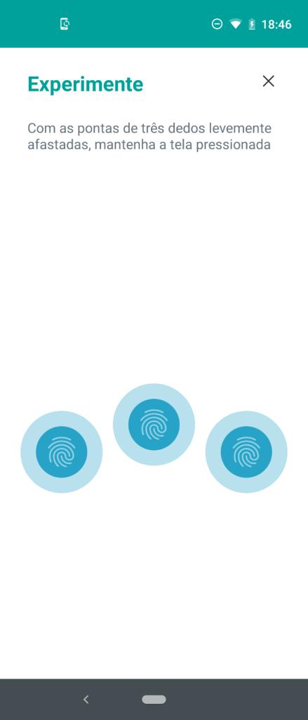 Print da tela com 3 dedos
