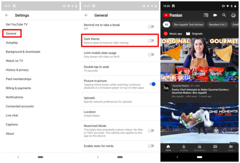 O modo noturno pode ser habilitado tanto no Android como no iOS.