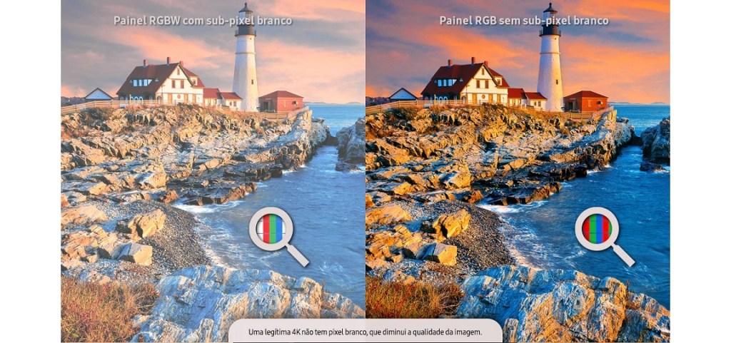 Tvs da Samsung contam com o padrão RBG de cores, garantindo o 4K de verdade