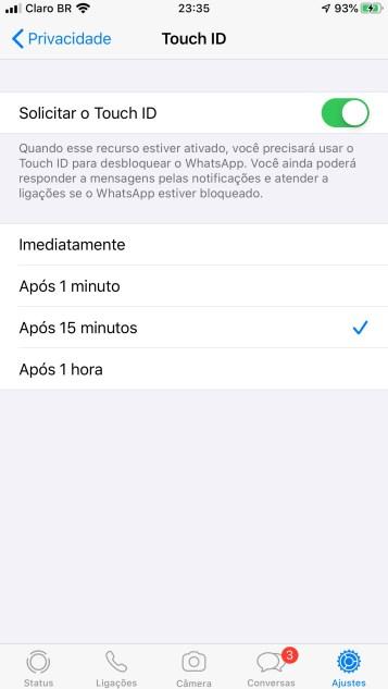 Uma nova medida de segurança foi adicionada ao mensageiro WhatsApp, que agora permite o desbloqueio por impressão digital