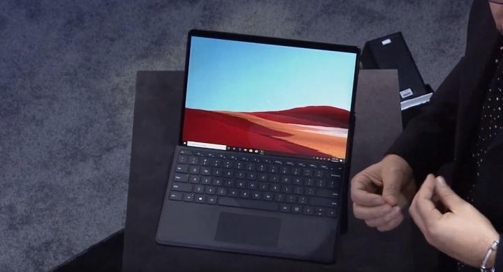A tela do novo Surface Pro X possui 13 polegadas