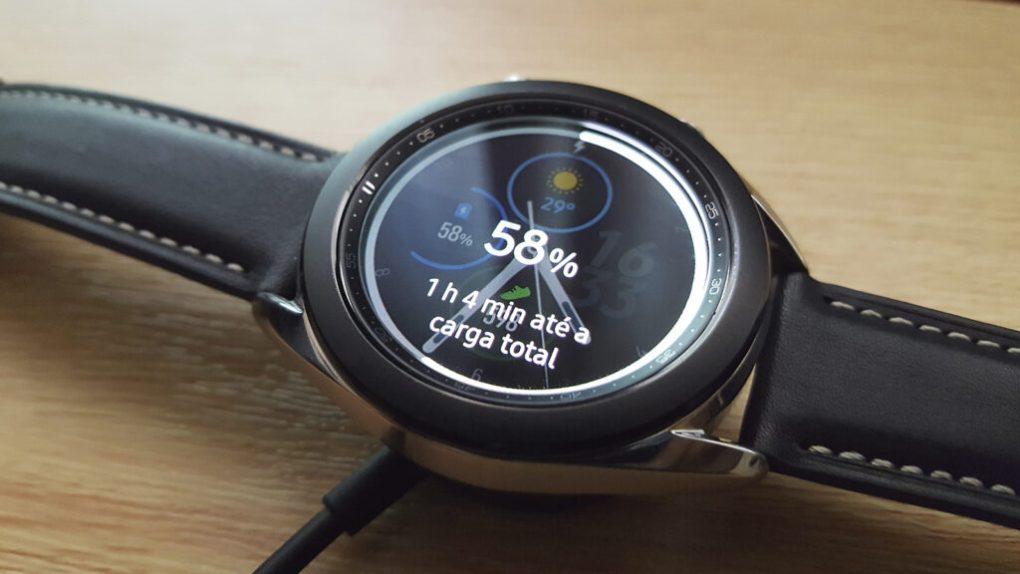 galaxy watch 3 carga de bateria