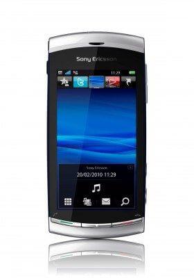 Vivaz™ Front Moon Silver 280x4001 - Novo Sony Ericsson Vivaz - O celular symbian S60v5 de 8.1 Mega Pixels