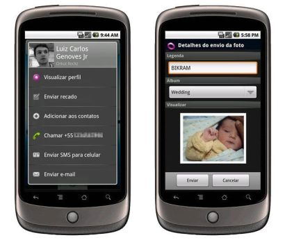 Combo: Google Buzz, Google Maps, Fring e Orkut para celulares Android 5