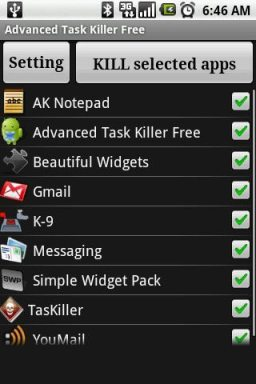 advanced task killer list of apps and processes - Celulares Android: vale a pena instalar um Task Killer?