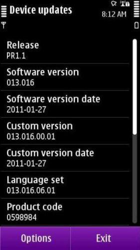 n8 firmware 320x568 281x500 - Nokia N8: nova atualização PR1.1 disponível para download