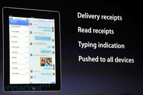 apple wwdc 2011 imessage 500x332 - Conheça as novidades do iOS 5 para iPhone 3GS e 4, iPad 1 e 2 e iPod Touch 3G e 4G