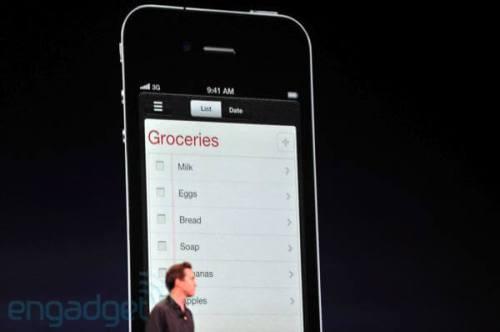 apple wwdc 2011 lembretes 500x332 - Conheça as novidades do iOS 5 para iPhone 3GS e 4, iPad 1 e 2 e iPod Touch 3G e 4G