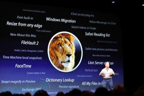 apple wwdc 2011 lion1 500x332 - Apple WWDC 2011: Mac OS X Lion