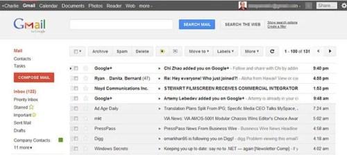 gmailnew gmail+ 500x224 - Gmail e Google Agenda de cara nova