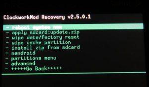 """recoverycwm 300x175 - Dicionário Básico do """"Mod"""" para Android - Recovery CWM / Nandroid"""