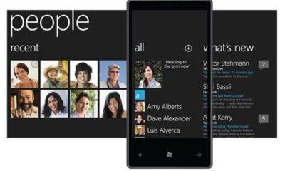 windows phone 7 people hub - Nokia alfineta iOS e Android