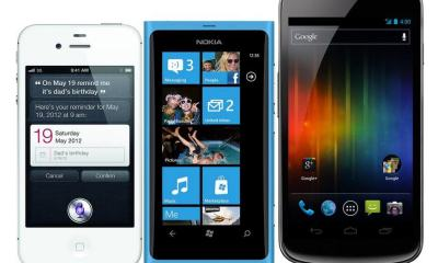 Iphone 4S Nokia Lumia 800 Samsung Galaxy Nexus Android iOS Windows Phone 7 - Escolha seu smartphone pelo tamanho
