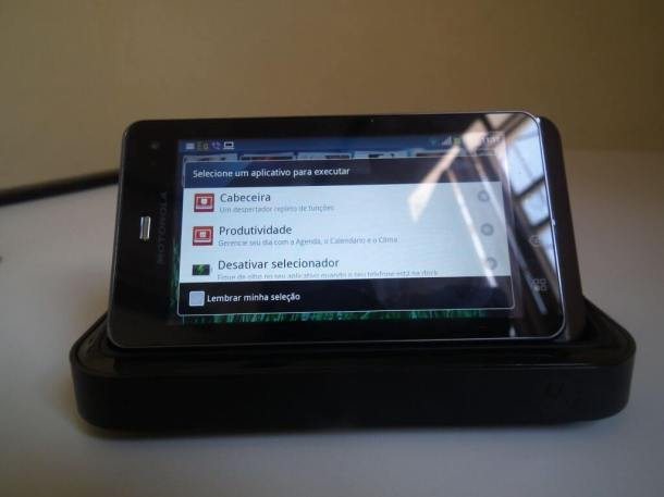"DSCF6291 610x457 - Review completo: Motorola Milestone 3, o smartphone ""all-in-one"" da Motorola"