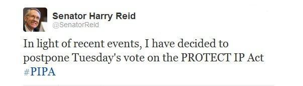Senador Harry Reid1 - Congresso americano adia a decisão do SOPA e PIPA