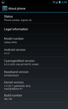 galaxy note ICS 2 - Galaxy Note ganha ROM com o Android 4.0.3 (ICS)