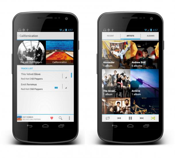 apollo 2 610x548 - Apollo: um novo Music Player para Androids