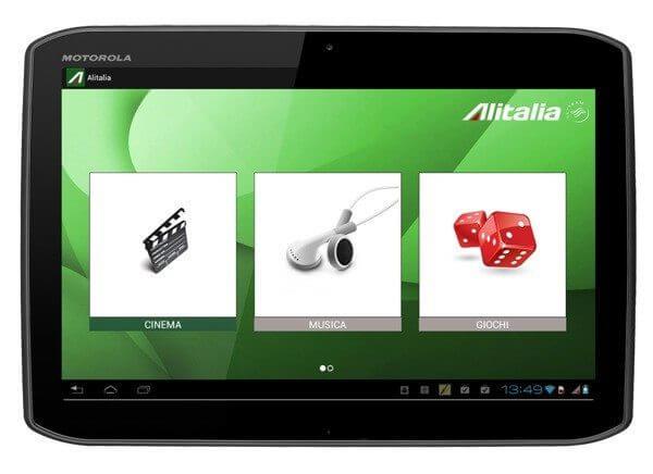 motorola xoom 2 alitalia - Companhia aérea italiana utilizará tablets Android como sistema de entretenimento em vôos