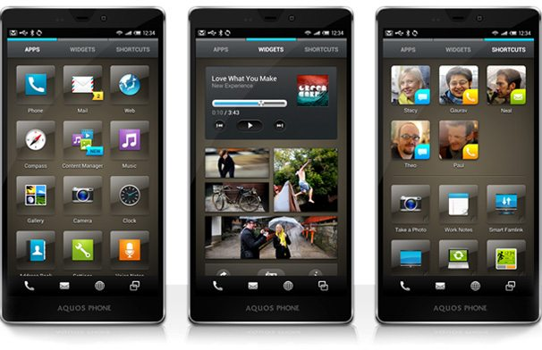 sharp screens 1 - Conheça a Feel UX: a nova interface dos smartphones da Sharp