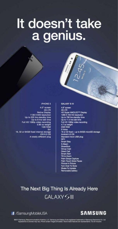 5436.10223 samsung vs apple - Novo anúncio da Samsung faz comparação com o iPhone 5