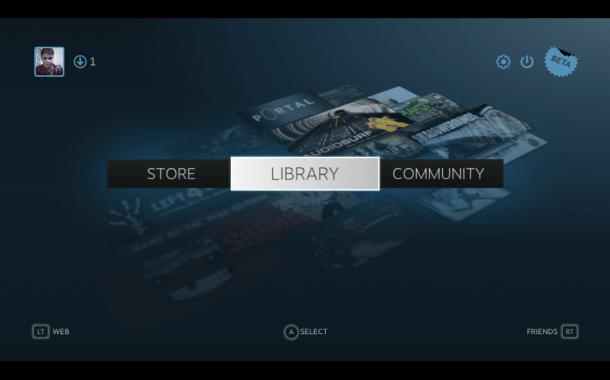 Imagem 1 610x380 - Steam Big Picture - Valve lança interface para TVs de alta definição