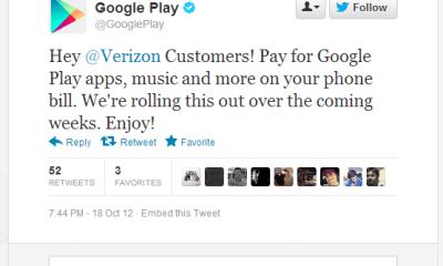 verizon google play - Operadora americana libera compra de aplicativos através da conta de telefone