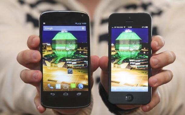 iPhone 5 nexus 4 Brasil 610x379 - Apple amplia liderança no mercado de smartphones dos EUA