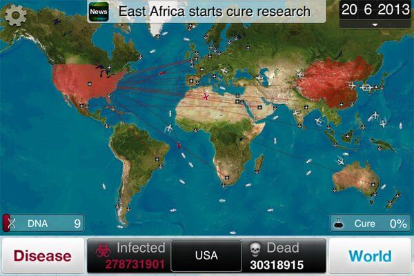 "plague mapa1 - Game Review: ""Plague Inc"" (iOS/Android)"