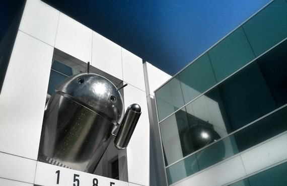 "Android Cromado - Android ""cromado"" aparece no campus do Google"