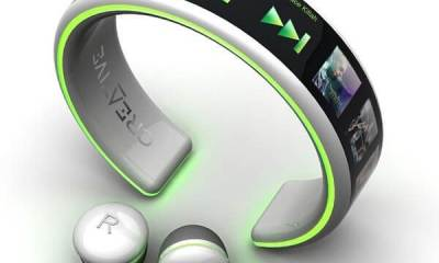 Wrist wear MP3 Player - MP3 Player com tela OLED flexível é carregado com energia do corpo humano