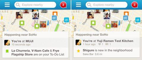 4sq 2 - Foursquare é atualizado com novo visual