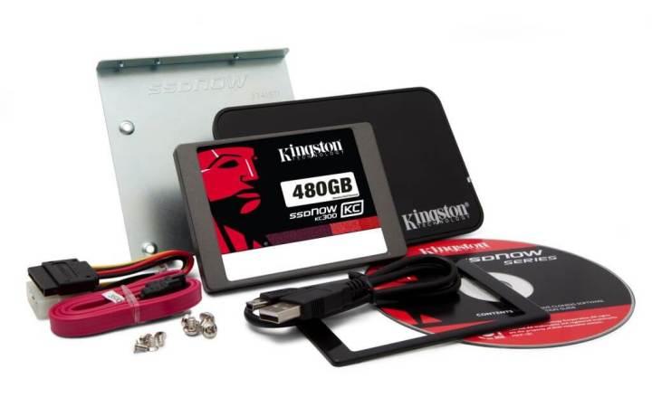 KC300 480GB Desktop kit 720x450 - Kingston lança linha de discos SSD com 5 opções de capacidade (60GB a 480GB)