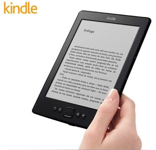 Kindle em promoção no Brasil por 199 reais.