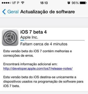 Apple libera iOS 7 Beta 4 para iPhones, iPads e iPod Touch