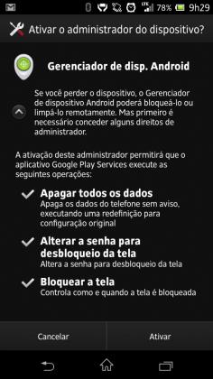 Android Device Manager Gerenciador de Dispositivos1 562x1000 - Localizador de Dispositivos Android já é acessível. Veja através deste link